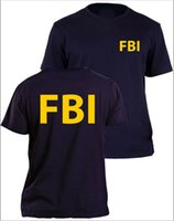 agent shirt - FBI t shirt agent secret service police CIA Staff Men Front and Back Print Summer Top Tee Shirt Plus Size S M XL XL
