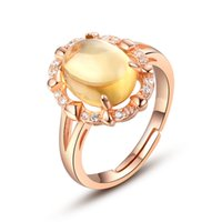 Cheap Natural Citrine Gemstone Ring Silver 925 Sterling Silver Jewelry Lovely Female Models Open Design Ring Top Quality