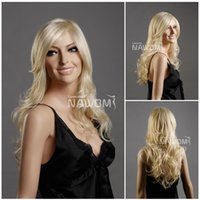 hair weave and wigs - USA hot sales wig women long blond wig hair and weaves stock Synthetic fiber of Kanekalon pc ZL87