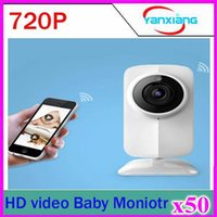 Wholesale 50pcs P Wireless Control Video Baby Monitor WiFi Talk Back intercom Camera With IR Night Vision for PC Ipad Mobile iPhone ZY SX