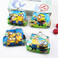 baby me party supplies - 2015 New Despicable Me Minion Baby Coin Purses kids cartoon wallet chilldren money bag party supplies Kids gift bag PVC