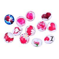 animal hearing - Fashion Hear Love Pink Rivca Bracelet Charms Bracelet Mixed Colour Noosa Chunks Jewelry Interchangeable Snap Button Beads Cheap
