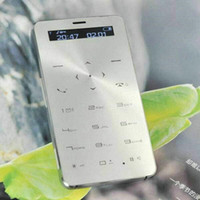 mobile phone tv mobile phone - Card phone JANUS ONE Ultra thin Bluetooth Small Cellphone IP Waterproof Dustproof Mobile Power Bank Function MP3 GSM Mini phone