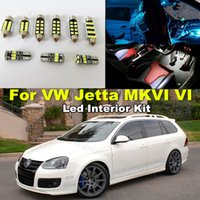 Wholesale 9pcs Canbus Lights T10 W5W MM C5W Car LED Interior Lighting kit For Volkswagen VW Jetta VI MK6 Sedan
