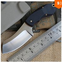 Cheap Free shipping KYDEX Sheath Hunting skin knife Stainless Steel Tactical Fixed Blade Knife camp pocket knives EDC survival tools