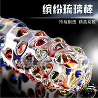 Cheap Beautiful crystal glass rod toy penis penis female adult products female masturbation fun supplies