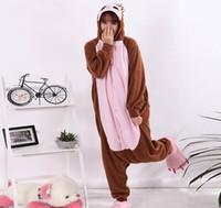 adult monkey onesie - Cartoon Animal Brown Baboon Onesie Unisex Adult Monkey Pajamas Cosplay Costumes Sleepsuit Sleepwear