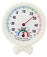 Wholesale Dial bell Hygrometer Wireless Thermometer Temp Humidity Weather Meter Easy to read New High Quality