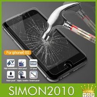 Wholesale For iphone iphone6 Plus inch real Tempered Glass Screen Protector mm Explosion Proof Guard phone Screen Film for Iphone4 s