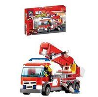 Cheap KAZI 8053 244pcs 3D DIY construction eductional plastic Building Blocks Sets Fire Fight Aerial Ladder Truck Car children toys