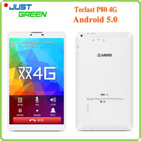 Wholesale Teclast P80 G Android Tablet PC MTK8735 Quad Core quot x800 IPS GB RAM GB ROM MP Camera Phone Call GPS