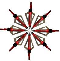 arrow packs - Red pack Hunting Broadhead Arrow Tips Steel Aluminum Grain Archery Arrowhead for Compound Bow Crossbow