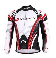 Wholesale 2015 NUCKILY Men Autumn Long Sleeve Bicycle Wear Clothing D Padded Pants New Design Men s Cycling Jersey
