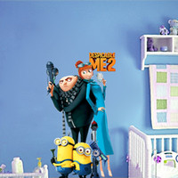 Wholesale Roommates Despicable Me Peel And Stick Wall Decals small yellow people cm nursery cartoon removable wall stickers newsale0022