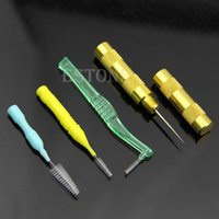 Wholesale Airbrush Spray Gun Nozzle Cleaning Repair Tool Kit Needle Brush Set order lt no track