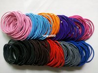 Wholesale mixed colourful Hair Elastic Ties Ponytail Holder ponies scrunchies thin hair band