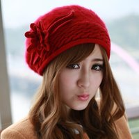 beret hats for sale - Factory Outlet New Arrival Hot Sale Autumn and Winter Black Rabbit Fur Hat Fashion Soft Angora Berets for Women B069