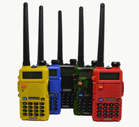 Wholesale 2015 Hot Portable Radio Baofeng UV R two way radio Walkie Talkie pofung W vhf uhf dual band MHZ baofeng uv R