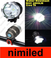 bike light lumen - 1800 Lumen CREE XML T6 LED Bike Bicycle Light HeadLight headLamp Tail lights HSA1871
