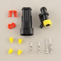 Wholesale 10 Kits Pin Way Sealed Waterproof Electrical Wire Connector Plug Auto Set For Car jet boats Black