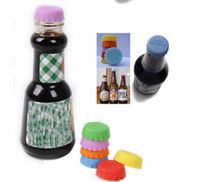 Wholesale Creative silicone beer savers bottle cap mix colors Wine Beer juice Caps Savers bottle top covers