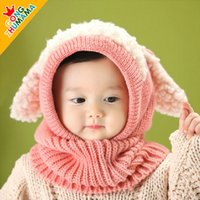 Wholesale 2015 hot Baby crochet Hat Boys Girls Children Knit Winter Warm cap Puppy Beanie hat free ship