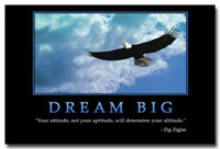 big life quotes - Dream Big Motivational Quotes Silk Poster Print x36 inch Eagle Flying
