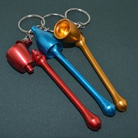 aluminum pipe supply - Mini Key Chain Metal Rocket Head Pipe Can Be Disassembled Portable Aluminum Pilot Pipe Smoking Factory Supply