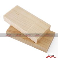 Wholesale 4GB Wood USB Flash Stick Natural Light Color Wooden Memory Drive Suit for Engraved Logo Good Quality