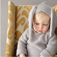 baby clothes suppliers - INS45 New Fashion Baby Girls Tops Rabbit Charater With D Ear Girls Sweatercoats Hooded Girls Clothing Supplier