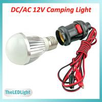 Wholesale 12V LED Bulbs W W DC AC V High Brightness LED Chips E27 V LED Lights with Pin Clip