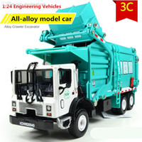 Wholesale Favorite Model gift Alloy Material truck garbage truck alloy Engineering Vehicles Diecast metal cars