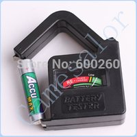 Wholesale New AA AAA C D V V Universal Button Cell Battery Volt Tester Checker