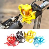 bicycle handlebar types - New Teapot Type Bike Bicycle Handlebar Bar Aluminum Alloy Bell Ring Loud Horn Free shiping