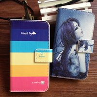 sony xperia sp - 7 Colors High Quality PU Fashion Cute Stand Wallet Leather Cover For Sony Xperia SP M35h case Lanyard gift