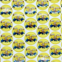 epoxy resin sticker - 1 minions D dome round clear Epoxy Resin sticker for Bottle cap DIY Self Adhesive hair bow mm B366