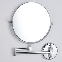 Wholesale 8 inch Copper Cosmetic Mirror Bathroom Makeup Mirror Double Faced Bath Mirrors