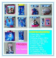 Wholesale 71pcs frozen party supplies including birthday party decorations kids napkins invitations souvenirs for birthday parties