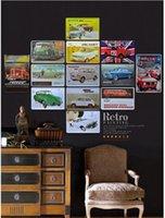 Envío gratis 20 * 30cm de metal Cartel de chapa Cartel VIEJOS CARS retro clásico pub Estaño Bar hogar de la pared de la decoración retro estaño póster