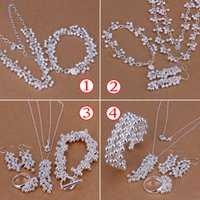 Wholesale High Quality Factory Price New Silver Jewelry Sets For Women Grapes shapes Fashion Chains Necklaces Sets
