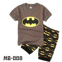 Wholesale Summer Kids Boys Christmas Pajamas Children Batman Sleeping Clothing Top Suits Short Sleeve Sleepwear Sets Baby Outfit Seals168 ZS B29