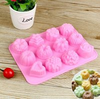 Wholesale Flower Star Silicone Tray Mold Mould Cavity per sheet for Chocolate Muffin CupCake cake Candy Ice