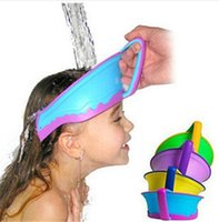 bath air cushion - Patent Smart Silicone Air Cushioned Adjustable Baby Old Man Waterproof Shampoo Cap Child Shower Hat Kids Bath Visor DCBF185