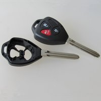 Wholesale New Buttons Remote Uncut Black Flip Key Shell blank case For Toyota Scion with logo