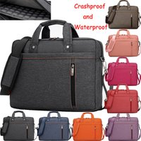 air luggage - 17 Inch Shockproof Waterproof Nylon Computer Laptop Notebook Bag Case Messenger Shoulder Bags for men women with luggage strap