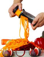 wholesale plastic fruit - Vegetable Fruit Spiral Slicer Shred Process Device Cutter Slicer Peeler Kitchen Tool Slicer spirelli spiralizer julienne cutter