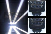 Wholesale 2PCS CREE WHITE x10 Watt led spider moving head beam light DJ party disco ktv