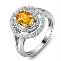 Cheap And Europe and the United States natural citrine ring in sterling silver jewelry marriage wedding