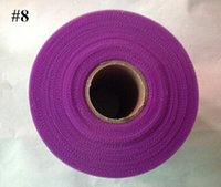Wholesale 6inch x yards Purple Tulle Roll Spool Tutu Wedding Party Gift Bow Cratf Decoration Tulle Roll D