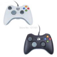 2 set Negro Color Blanco Controlador por cable para XBOX 360 joystick inalámbrico para el controlador oficial de Microsoft XBOX Game